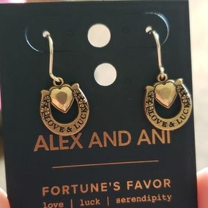 Alex and ani love and luck earrings